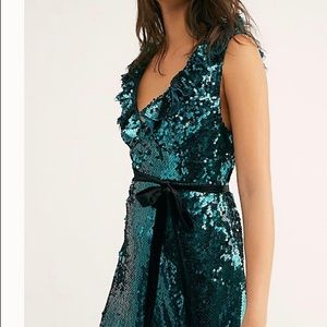 Free People Green Sequined Dress